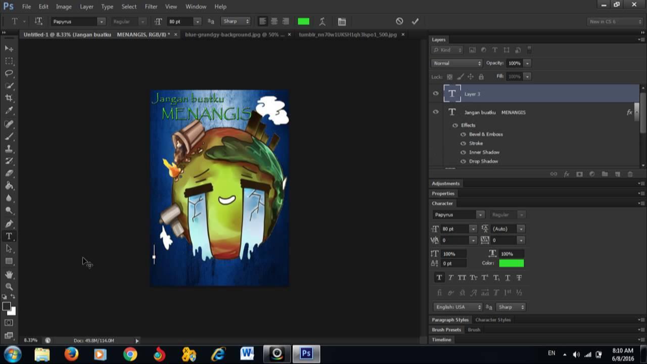 Tutorial Membuat Poster Menggunakan Adobe Photoshop Cs6 Youtube