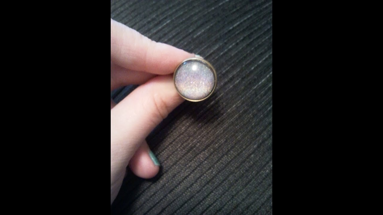 DIY] Nagellack Cabochon Ring HOLOGRAPHIC Style :0) - YouTube