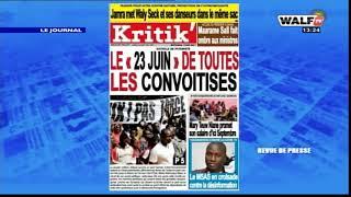 La revue de presse  lue et commentée en français par Ramatoulaye Sarr
