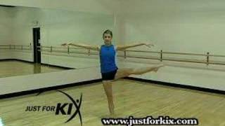 Open Side Leap Tutorial and Demonstration from Just For Kix