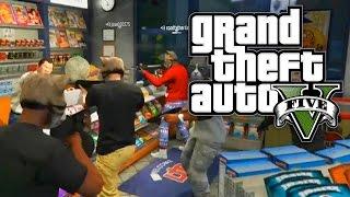GTA 5 Online - REKT AT A ROBBERY & CRAZY CAT CREW! (GTA V Online)