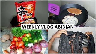 Weekly Vlog Abidjan | Chinese Supermarket, Braiding, Wash Day, Groceries