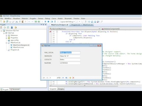 Come creare una applicazione database SQLite con Sharp Develop IDE