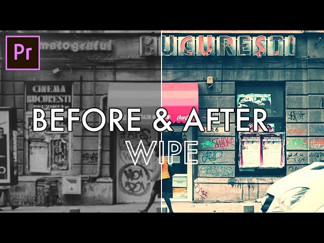How to create a BEFORE and AFTER Wipe Transition Effect in Adobe Premiere Pro (CC 2017 Tutorial)