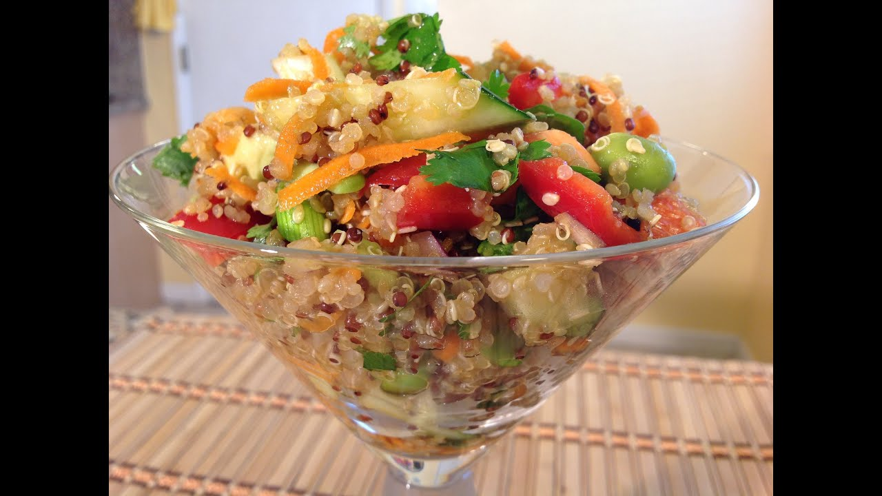 How to asian quinoa salad dressing vegan food recipes youtube forumfinder Gallery