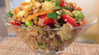 How To-asian Quinoa Salad & Dressing-vegan-vegetarian Food Recipes