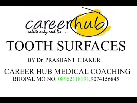 Tooth surfaces by Dr Prashant Thakur