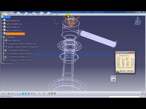 catia-v5-tutorial p6-assemble-screw-jack working-with-wireframe mechanical-design-engineering
