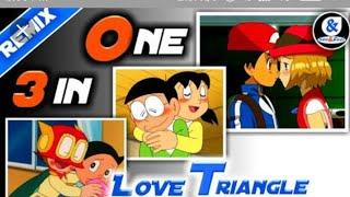 #No1trending Love triangle❤🔺-Doremon, perman, Pokemon| 3 in one| aashiqi 2mashup| Aditya Godiyal