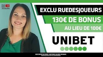 Bonus Unibet de 130€ au lieu de 100€ avec le code RDJGOLD