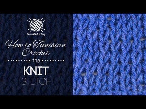 How to Tunisian Crochet the Knit Stitch (Left Handed) - YouTube