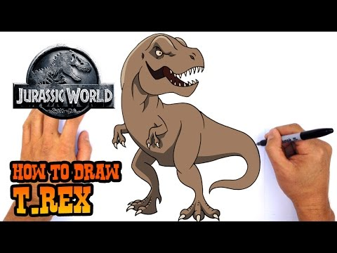 how-to-draw-t-rex-|-jurassic-world