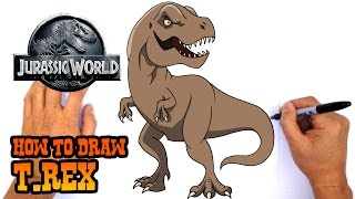 Learn How to Draw a Tyrannosaurus Rex from Jurassic World. Watch ou...