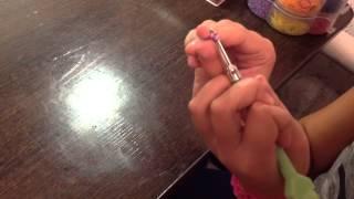 Ажурный браслет из резинок. Урок 1.