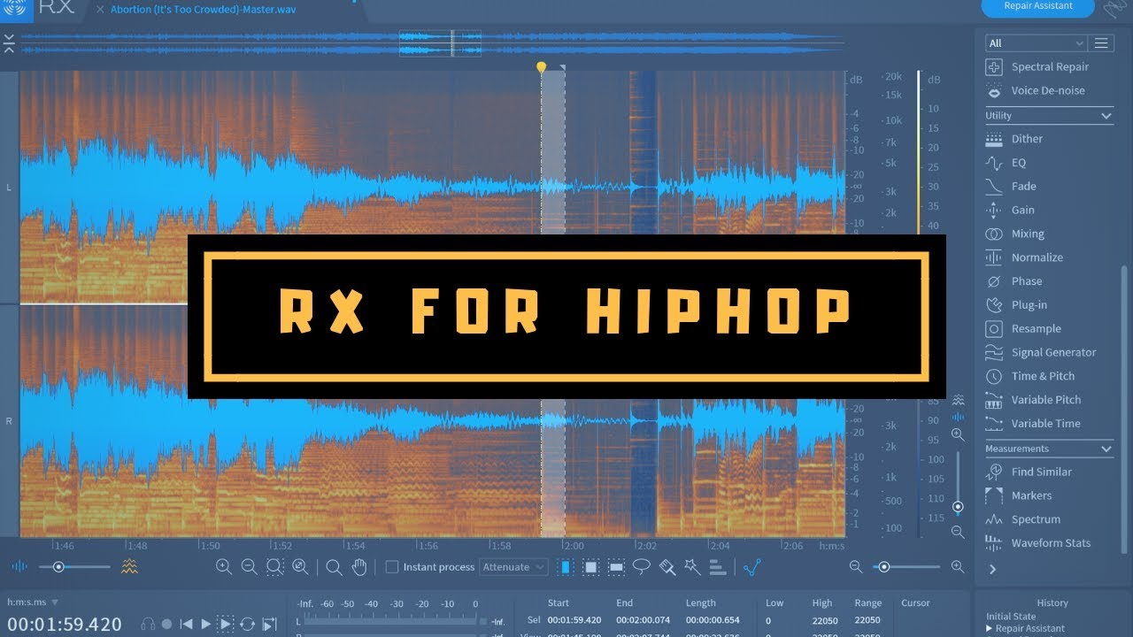 Izotope RX 7 Standard | Initial Thoughts For Hip Hop Producers