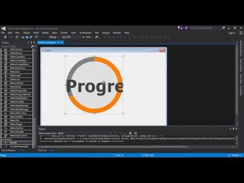 C# Tutorial  Circle Progress Bar