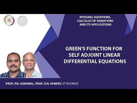 Green's function for self adjoint linear differential equations