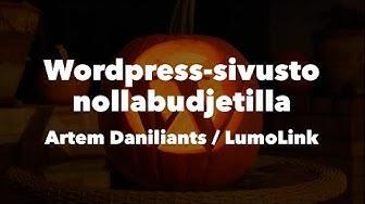 """""""Wordpress-sivusto nollabudjetilla""""-koulutus"""