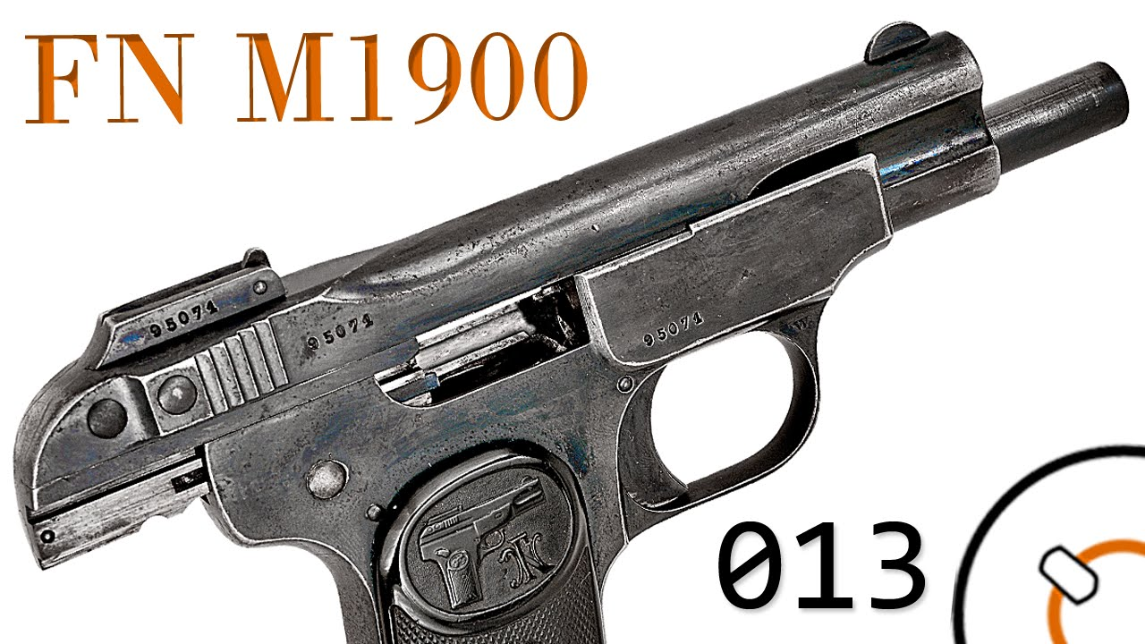 Small Arms of WWI Primer 013: Belgian FN Model 1900 Pistol
