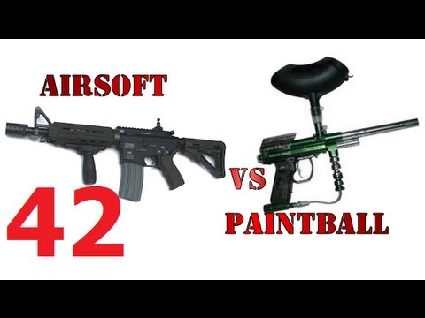 Пейнтбол или страйкбол. Часть 2. Paintball vs airsoft. Сравнение