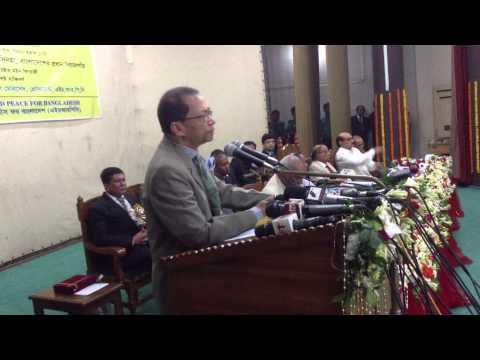 Hon'ble Chief Justice of Bangladesh Justice S K  Siha is delivering speech at HRPB seminar on 16 05