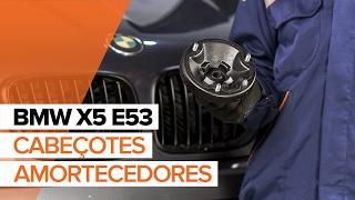 Como substituir Apoios da suspensão amortecedores BMW X5 (E53) - vídeo guia