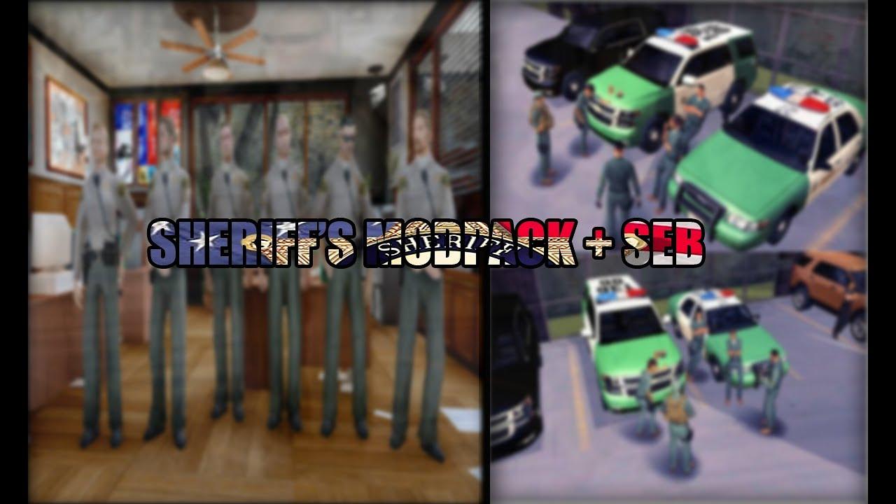 Download GTA:SA - [REL] modpack Sheriff + SEB   IVF   PATROL UNIT