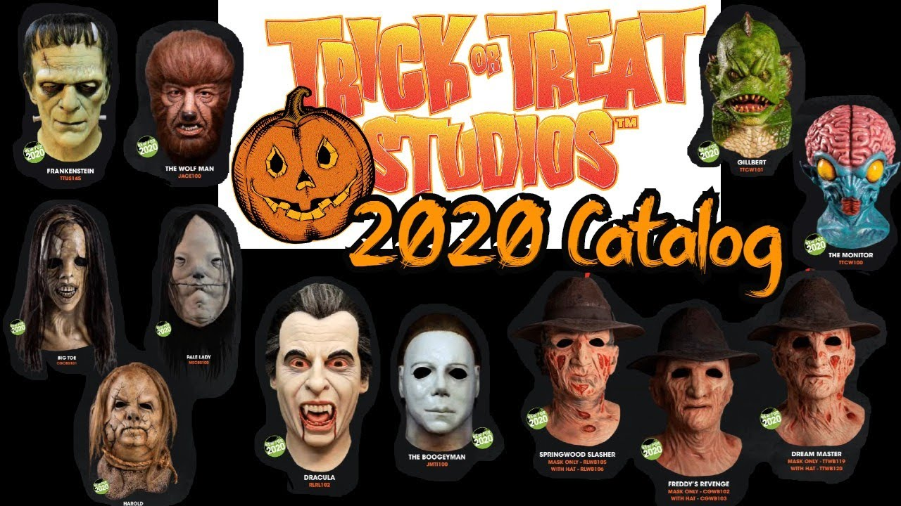Halloween 2020 Mask Trick Or Treat  New Trick or Treat Studios 2020 line of Masks   Catalog Review