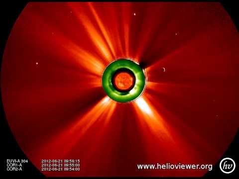 COR1-A , COR2-A , EUVI-A 304 (2012-06-05 07:25:00 - 2012-06-29 19:40:00 UTC)