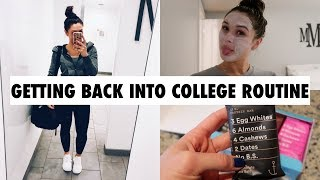 HEALTHY EATING AND A MINI NIGHT ROUTINE (VLOG STYLE)
