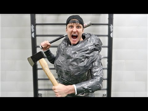 100 LAYERS OF T-REX TAPE SUIT (DANGER ALERT) UNBREAKABLE