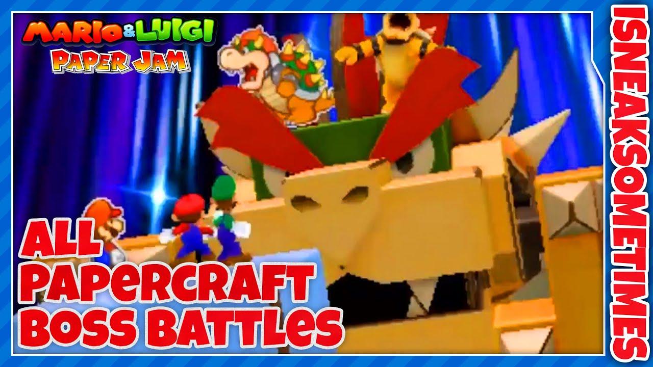 Papercraft Mario & Luigi: Paper Jam - All Papercraft Boss Battles