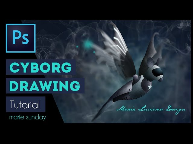 Photoshop CC Cyborg Illustration Tutorial 2018