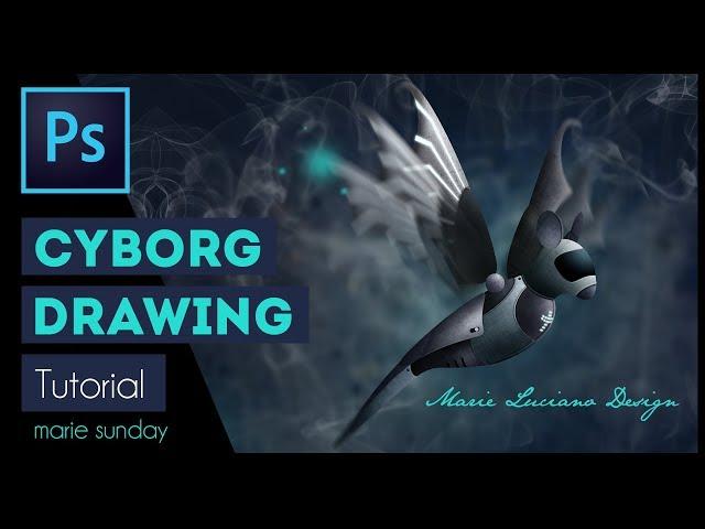 Photoshop CC Cyborg Illustration Tutorial 2018