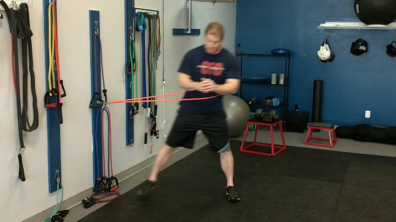 Resistance Band Exercise: Lateral Lunge