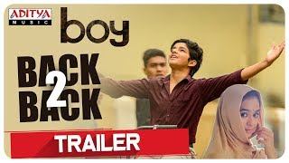Boy Telugu Movie Back To Back Trailers  Lakshya Sinha Sahiti  Amar Viswaraj