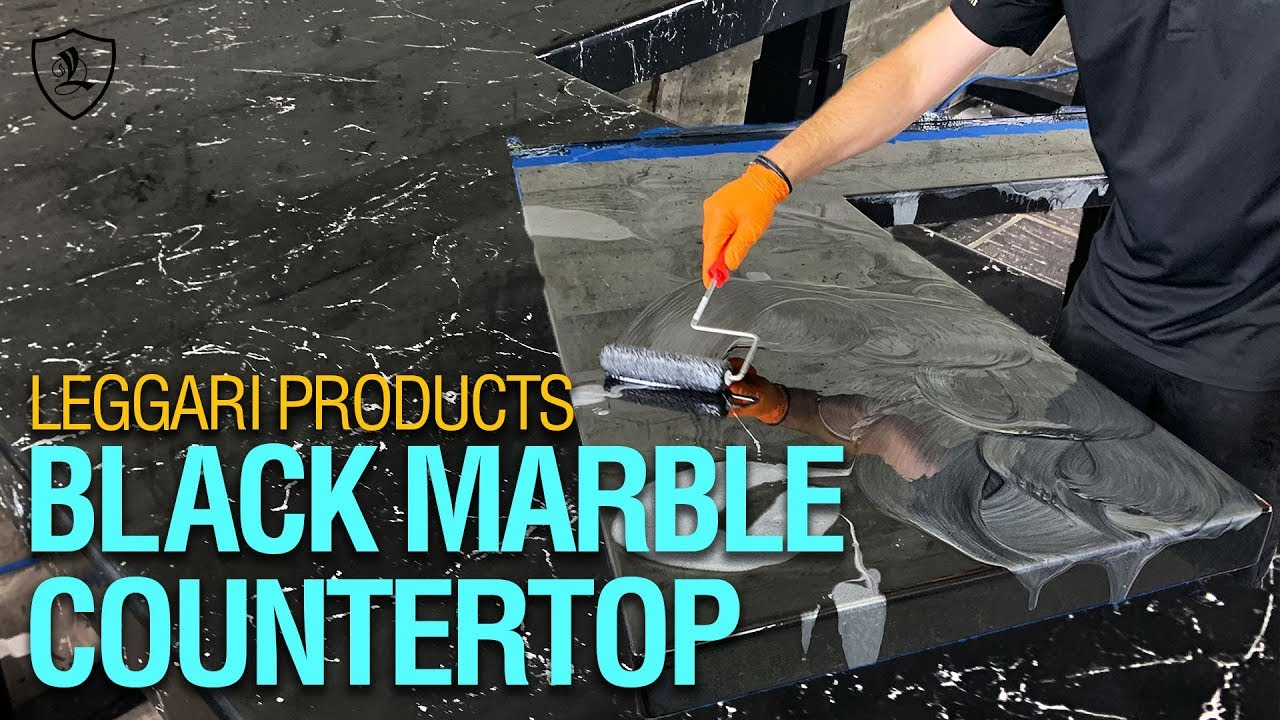 Diy Black Marble Countertop Kit 9 Youtube