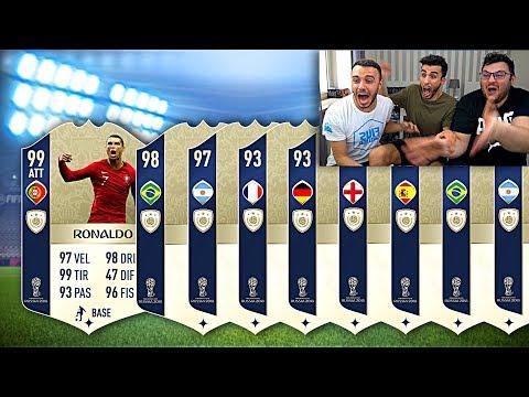 NON CI CREDO!!! 35 ICONE GARANTITE IN A PACK! FIFA 18 MONDIALI