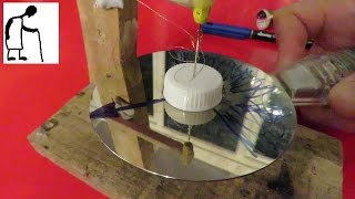 Spinning an Aluminium Disk with a magnet #2 with hair spring