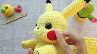 """Мастер-класс по вязанию """"Пикачу"""" крючком: обзор готовой игрушки. Вязание игрушек Амигуруми"""