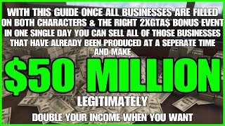 GTA ONLINE - MAKE $50 MILLION IN A SINGLE DAY!!! DOUBLE YOUR INCOME FOREVER!!! ***LEGITIMATE***