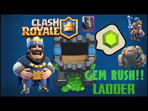 Clash Royale /\ Gem Rush + Ladder Új Deckkel!