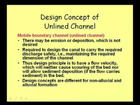 Mod 5 Lec 3 Canal Design 1 Youtube