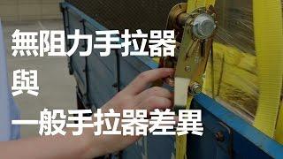 專利無阻力手拉器與傳統貨物安全綑綁帶比較