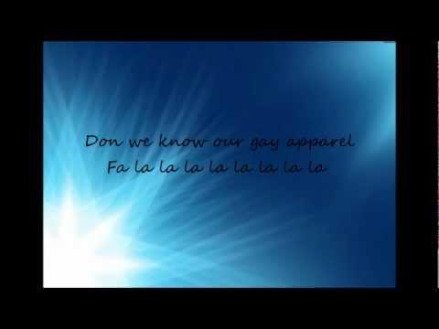 Glee Cast - Deck the Rooftop (lyrics viedo)