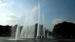 Gorky Park's Musical Fountains in Moscow