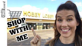 Hobby Lobby Shop with Me   Hobby Lobby Farmhouse Decor 2019