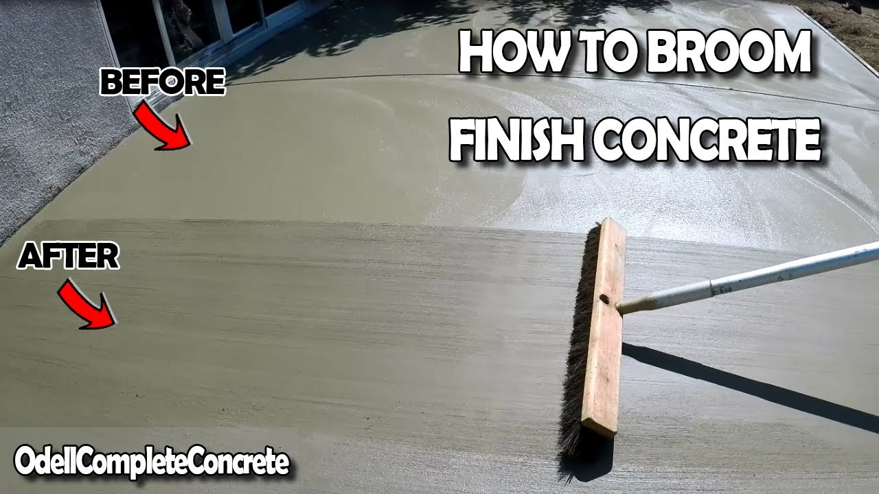 How to Broom Finish a Concrete Slab