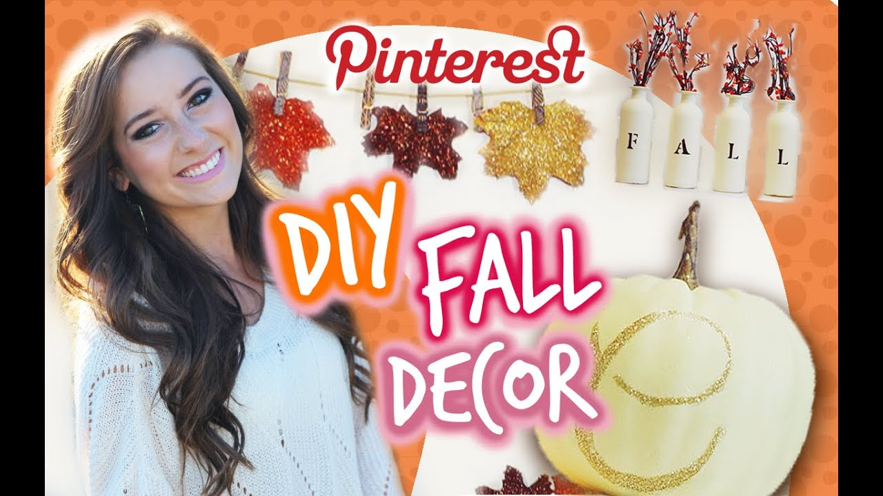 DIY Fall Room Decor! ♥ Pinterest Inspired - YouTube