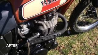 1977 XT500 Grub Screw Mod Before & After
